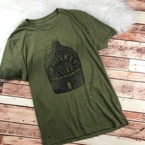 Lucky brand whiskey graphic tee olive green